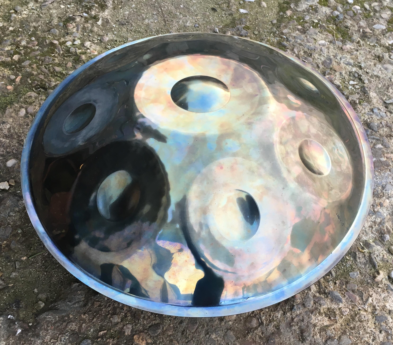 handpan (D) Kurd 8 Inox side