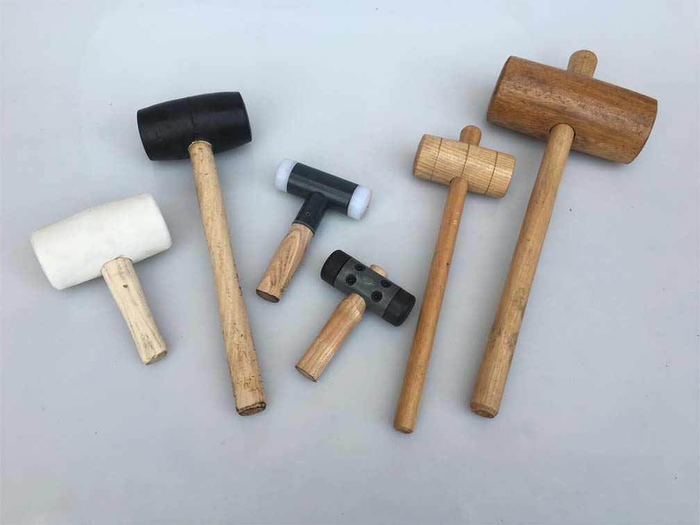 Wood and nylon hammers